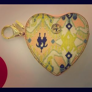 Tory Burch Paisley Pastels Coin Fob
